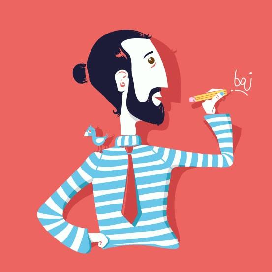 Portrait Baj graphiste Lyon