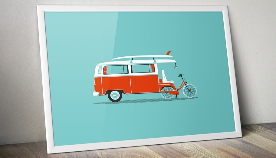 Illustration affiche combi vv
