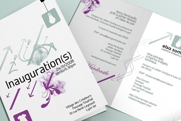 Graphisme plaquette inauguration