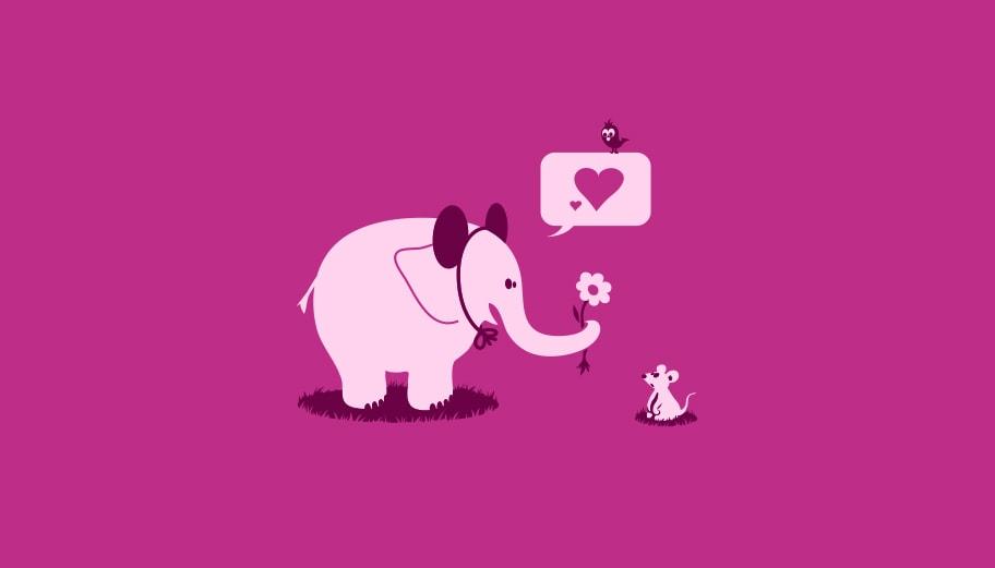 Illustration enfant éléphant