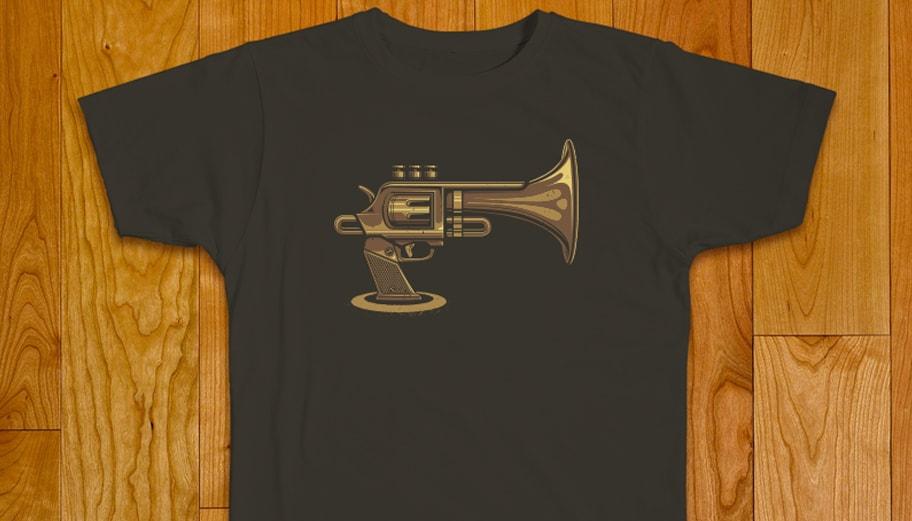 Illustration t-shirt trompette