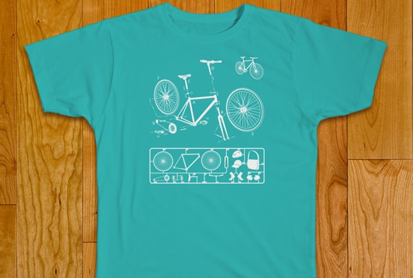 Illustration t-shirt Vélo fixi